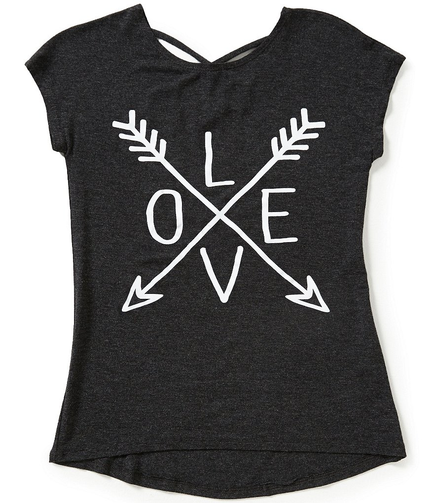 Copper Key Big Girls 7-16 Knit Love Graphic Tee