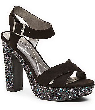 Kenneth Cole Reaction I Can Change Glitter Block Heel Dress Sandals