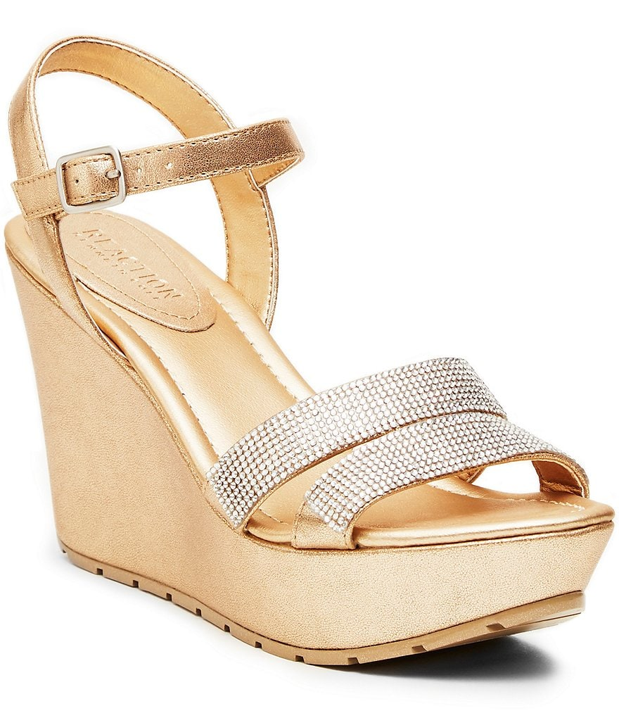 Kenneth Cole Reaction Sole Sparkle Metallic Wedge