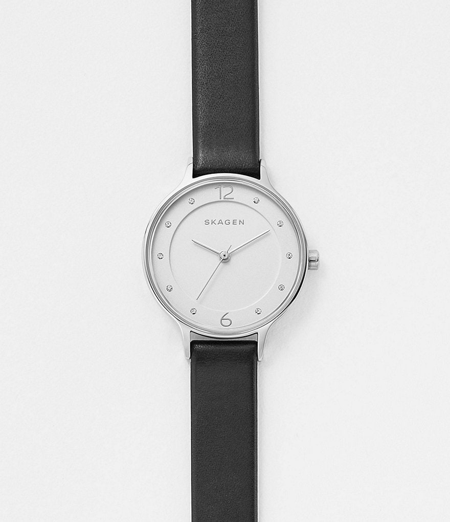Skagen Anita Analog Leather-Strap Watch