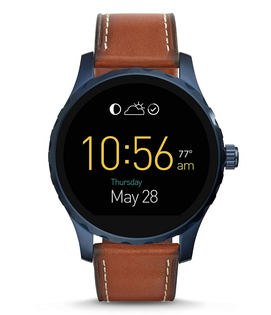 Fossil Q Marshal Touchscreen Leather-Strap Smart Watch