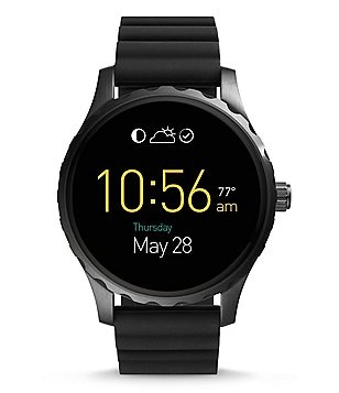 Fossil Q Marshal Touchscreen Silicone-Strap Smart Watch