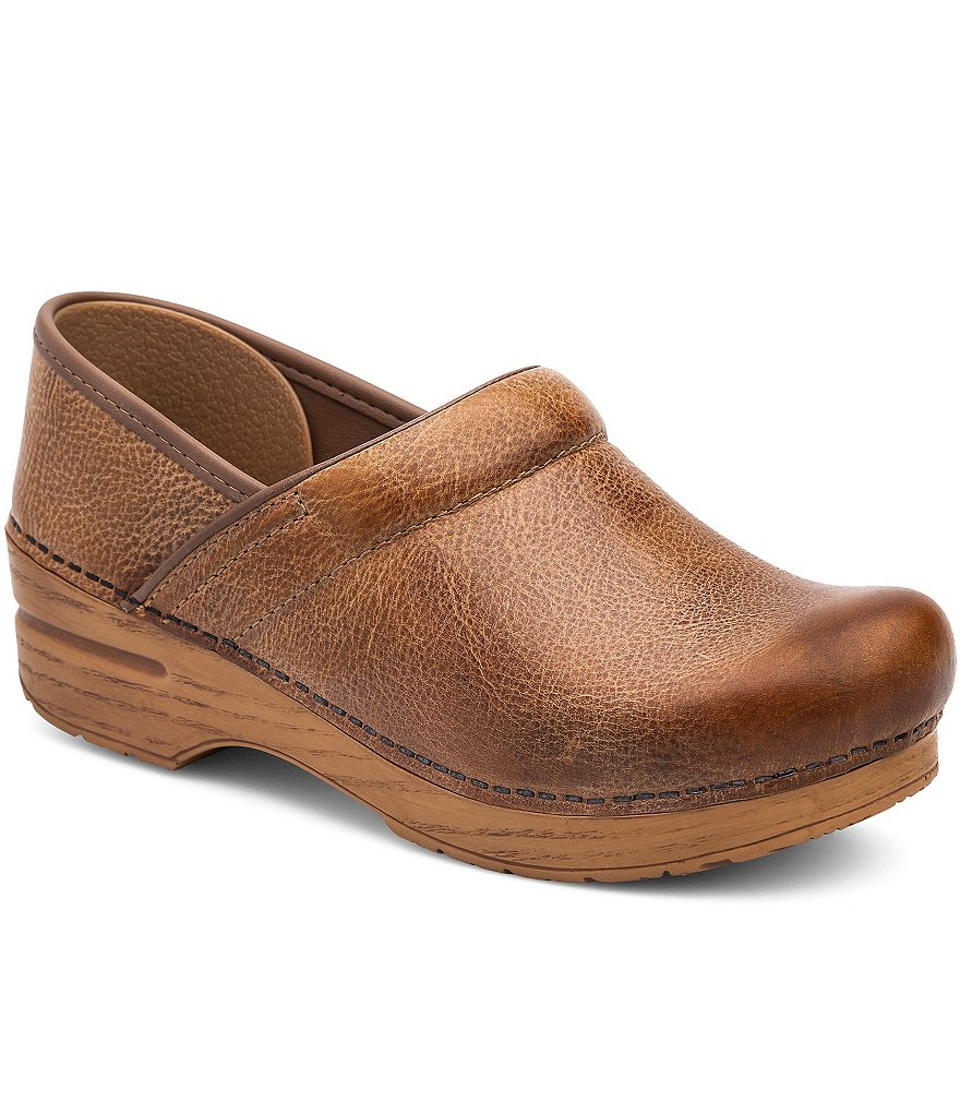 Dansko Professional Distressed Leather Clogs