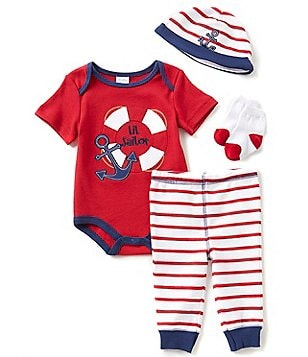 Starting Out Baby Boys Newborn-9 Months Sailor 4-Piece Layette Set