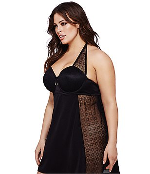 Ashley Graham Essentials Halter Chemise