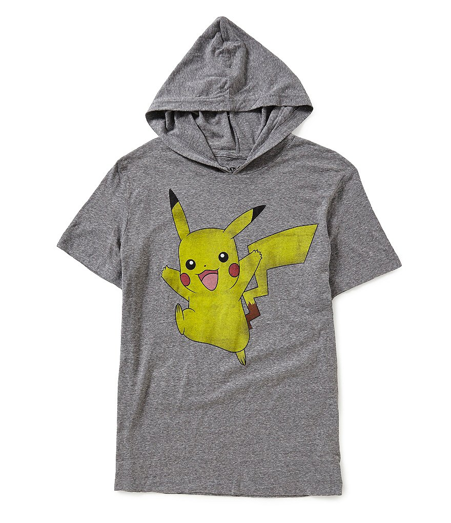 Pokèmon Happy Pikachu Short-Sleeve Graphic Hoodie Tee