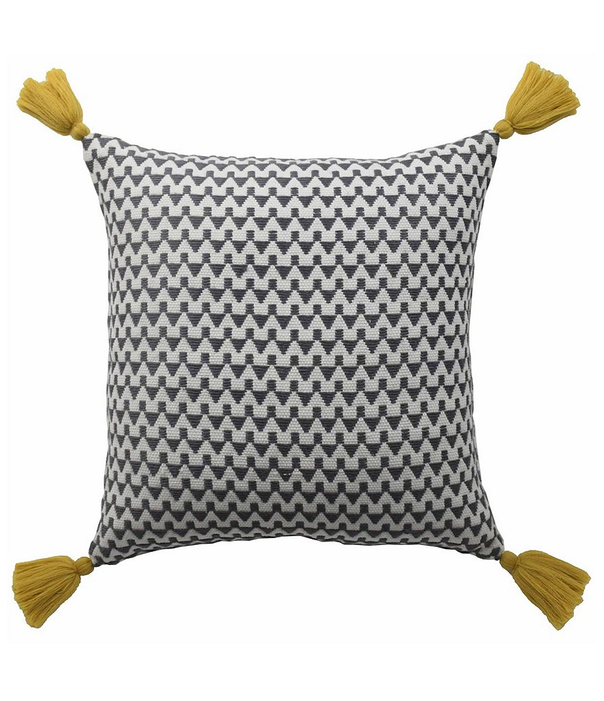 Blissliving HOME Winnie Tasseled Chevron Square Pillow