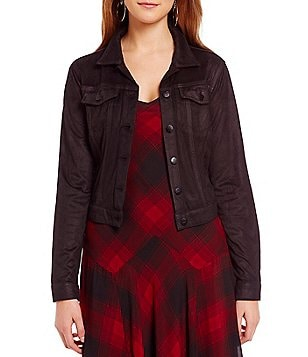 Jessica Simpson Pixie Coated Faux-Suede Jacket