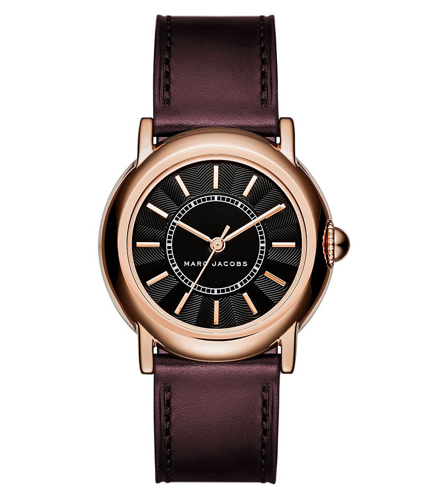 Marc Jacobs Courtney Analog Leather-Strap Watch