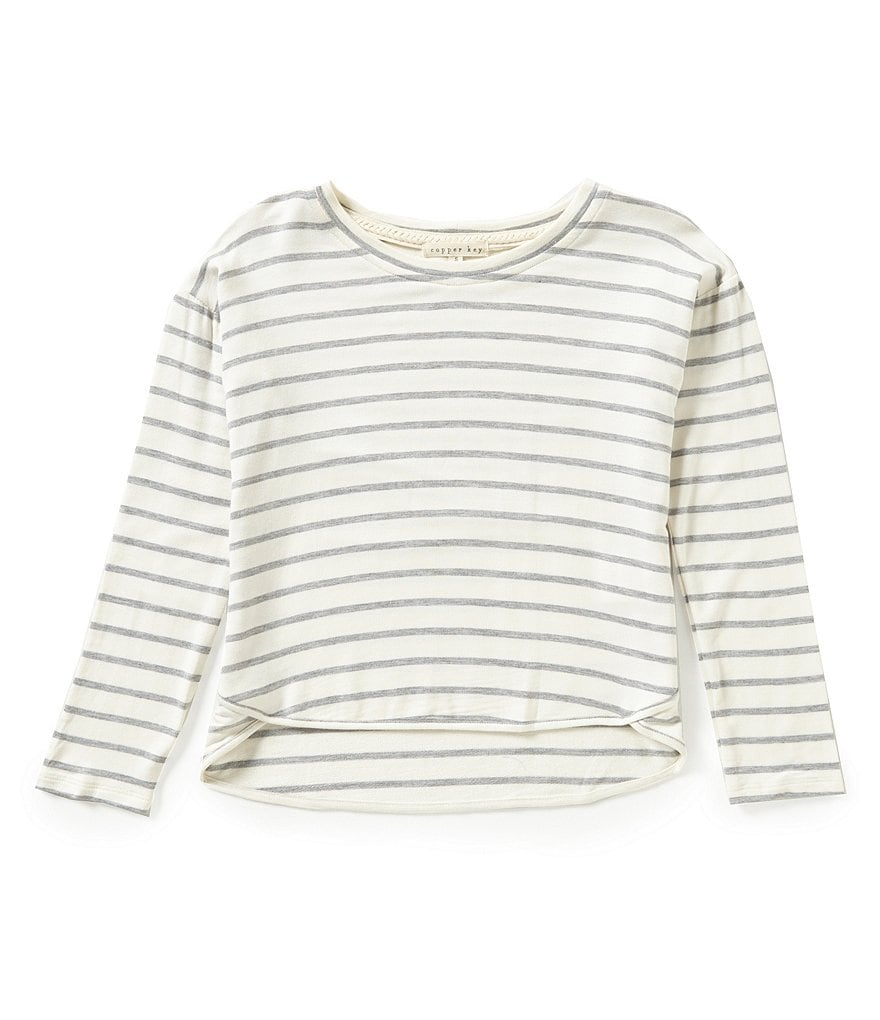 Copper Key Big Girls 7-16 Striped Long-Sleeve Top