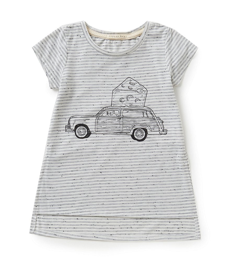 Copper Key Big Girls 7-16 Striped Mouse Tee