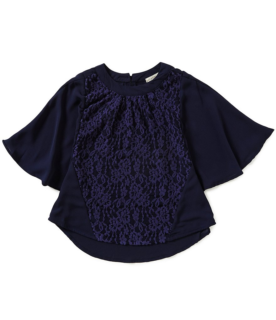 Copper Key Big Girls 7-16 Chiffon-Lace Top