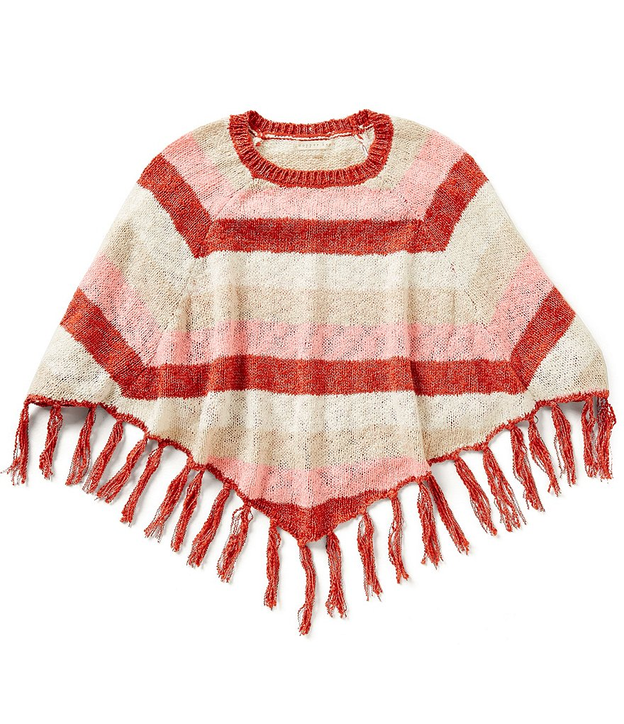 Copper Key Big Girls 7-16 Striped Poncho Top