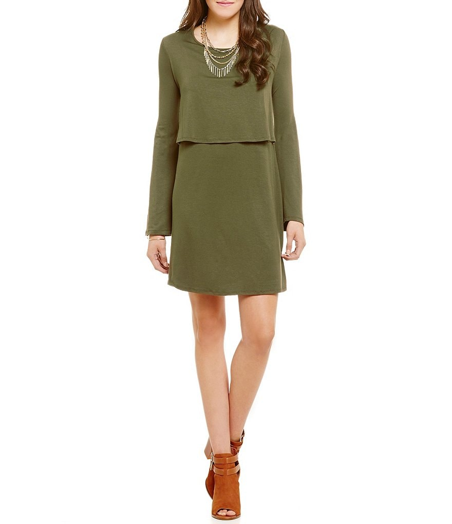 GB Popover Knit Shift Dress