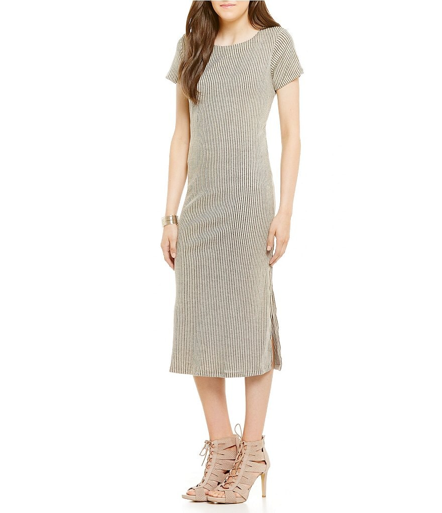 GB Rib Knit Midi Dress