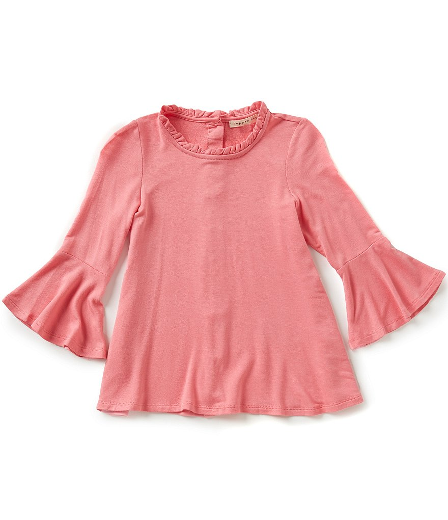 Copper Key Big Girls 7-16 Bell Sleeve Knit Top