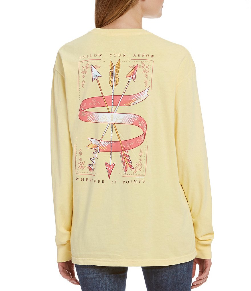 Lily Grace Follow Your Arrow Long-Sleeve Graphic Tee