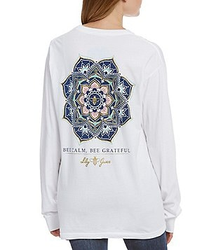 Lily Grace Bee Calm Long-Sleeve Graphic Tee