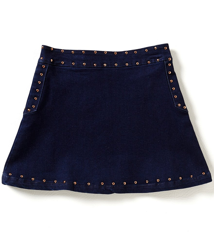 GB Girls Big Girls 7-16 Studded Denim Skirt