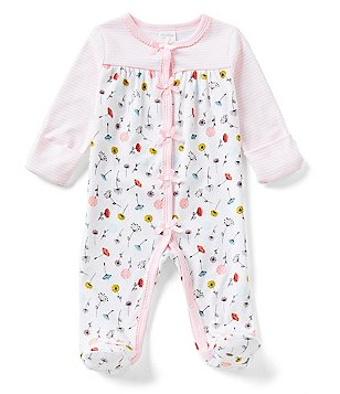 Starting Out Baby Girls Newborn-6 Months Poppy-Floral-Print Footed Coverall