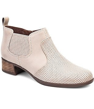Dansko Lola Perforated Nappa Leather Square Toe Booties