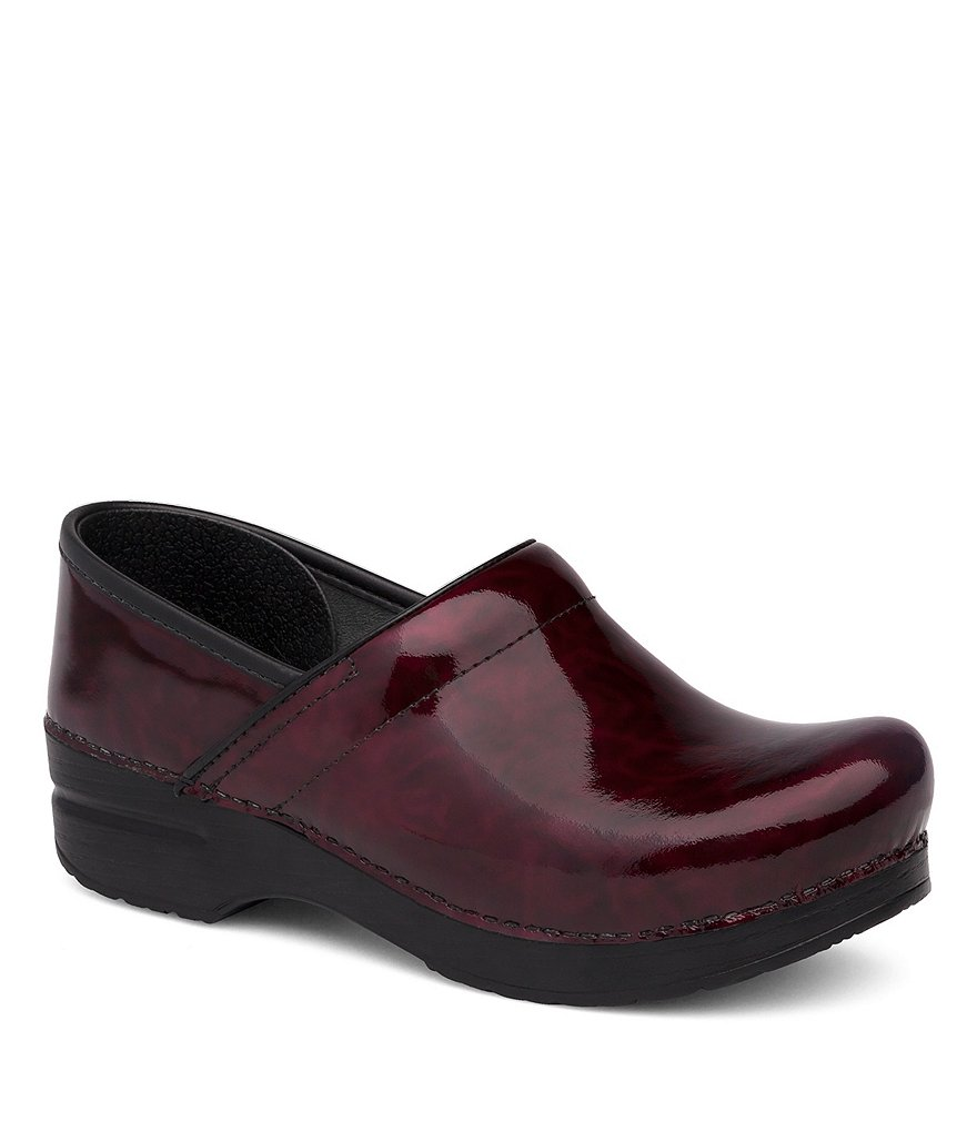 Dansko Professional Patent Leather Slip-On Clogs
