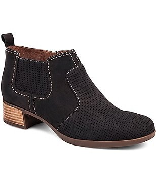 Dansko Lola Perforated Leather Booties