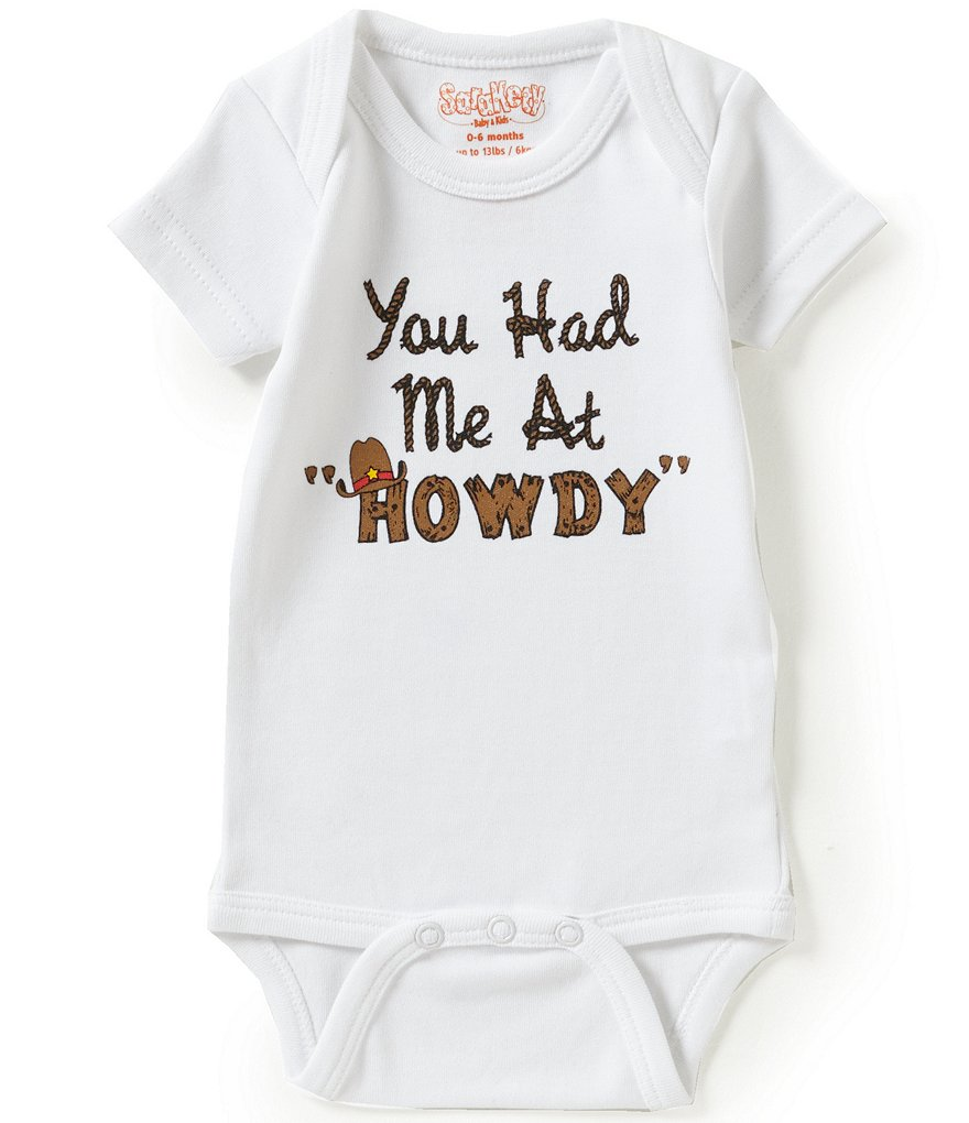 Sara Kety Baby Boys Newborn-12 Months You Had Me At Howdy Bodysuit