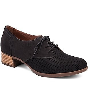 Dansko Louise Nubuck Leather Lace-Up Dress Oxfords