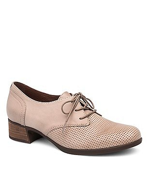 Dansko Louise Perforated Nappa Leather Lace-Up Dress Oxfords