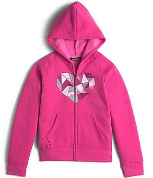 The North Face Little/Big Girls 5-18 Logowear Heart Graphic Full-Zip Hoodie Jacket