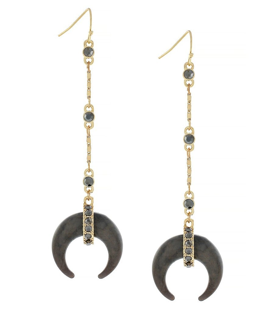 Jessica Simpson Desert Fox Horn Drop Earrings
