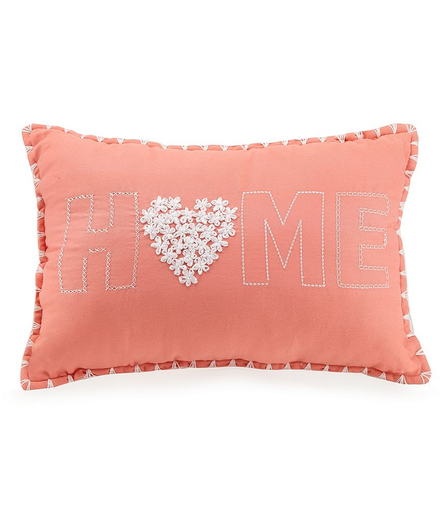Jessica Simpson Home Floral-Embroidered Pillow