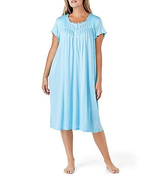 Eileen West Plus Crochet-Trimmed Waltz Nightgown