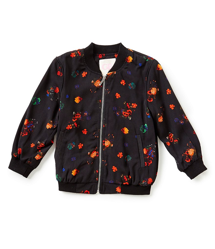 GB Girls Little Girls 4-6X Floral Bomber Jacket