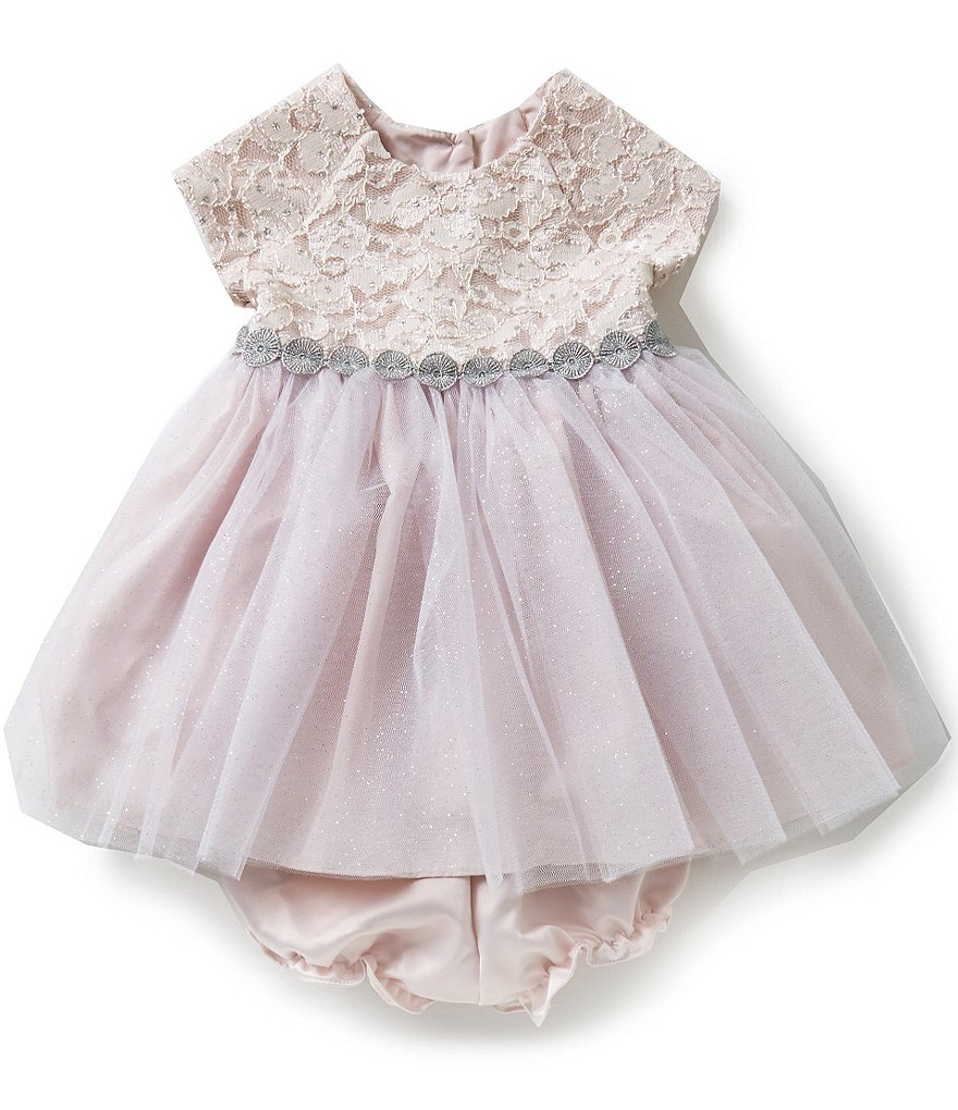 Pippa & Julie Baby Girls 12-24 Months Embroidered Lace Dress