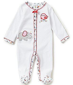 Starting Out Baby Girls Newborn-6 Months Elephant Footed Coverall