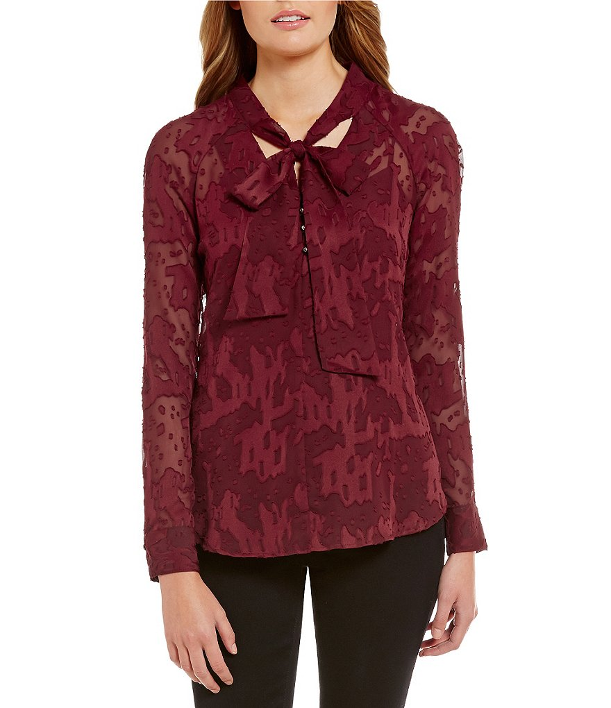 Nicola Long Sleeve Tie-Neck Blouse