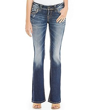 Silver Jeans Co. Suki Mid-Rise Distressed Bootcut Jeans
