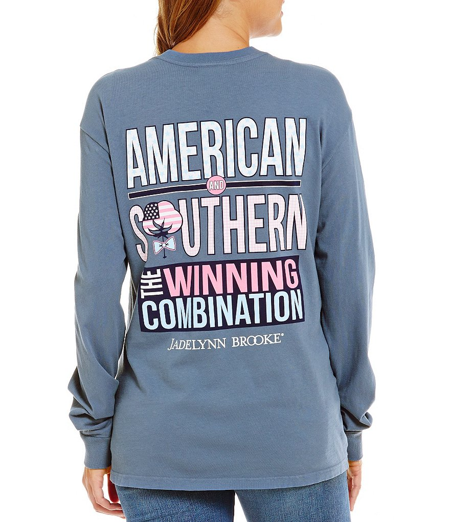 Jadelynn Brooke American And Southern Long-Sleeve Graphic Tee