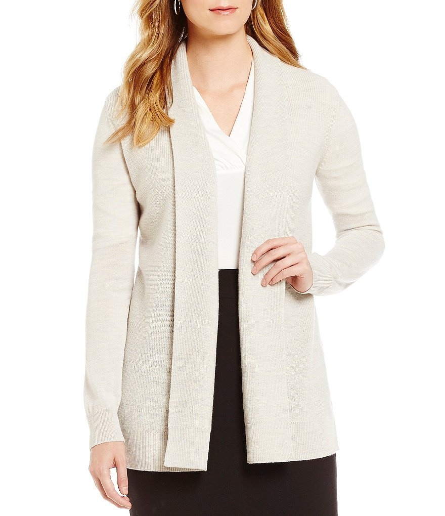 Alex Marie Sarah Ribbed Cuff Open Front Cardigan