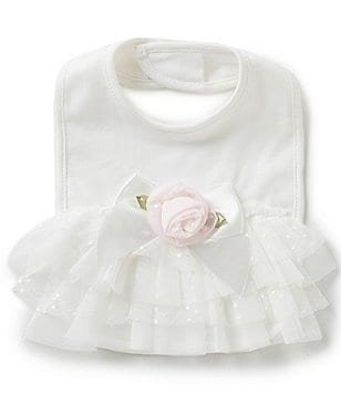 Edgehill Collection Baby Girls Ruffle Bib