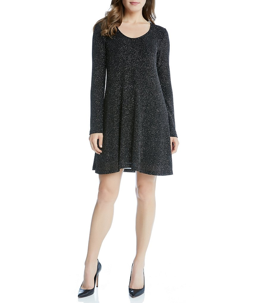 Karen Kane Diamond Dust Taylor Long Sleeve Dress