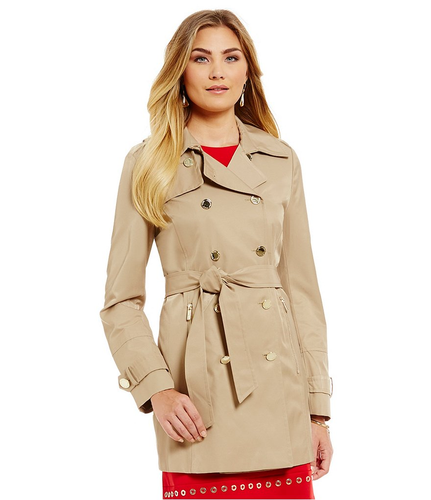 KARL LAGERFELD PARIS Belted Trench Coat