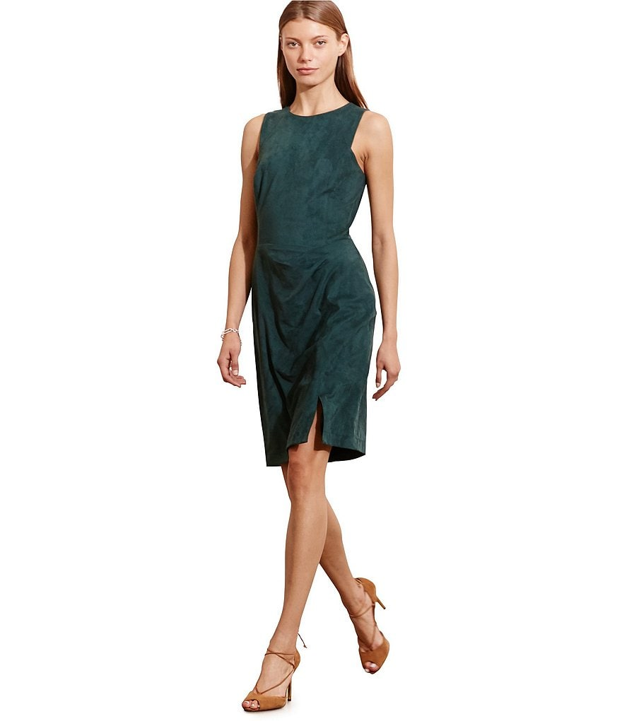Lauren Ralph Lauren Faux Suede Sleeveless Sheath Dress