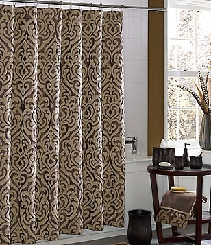 J. Queen New York Luxembourg Damask Shower Curtain