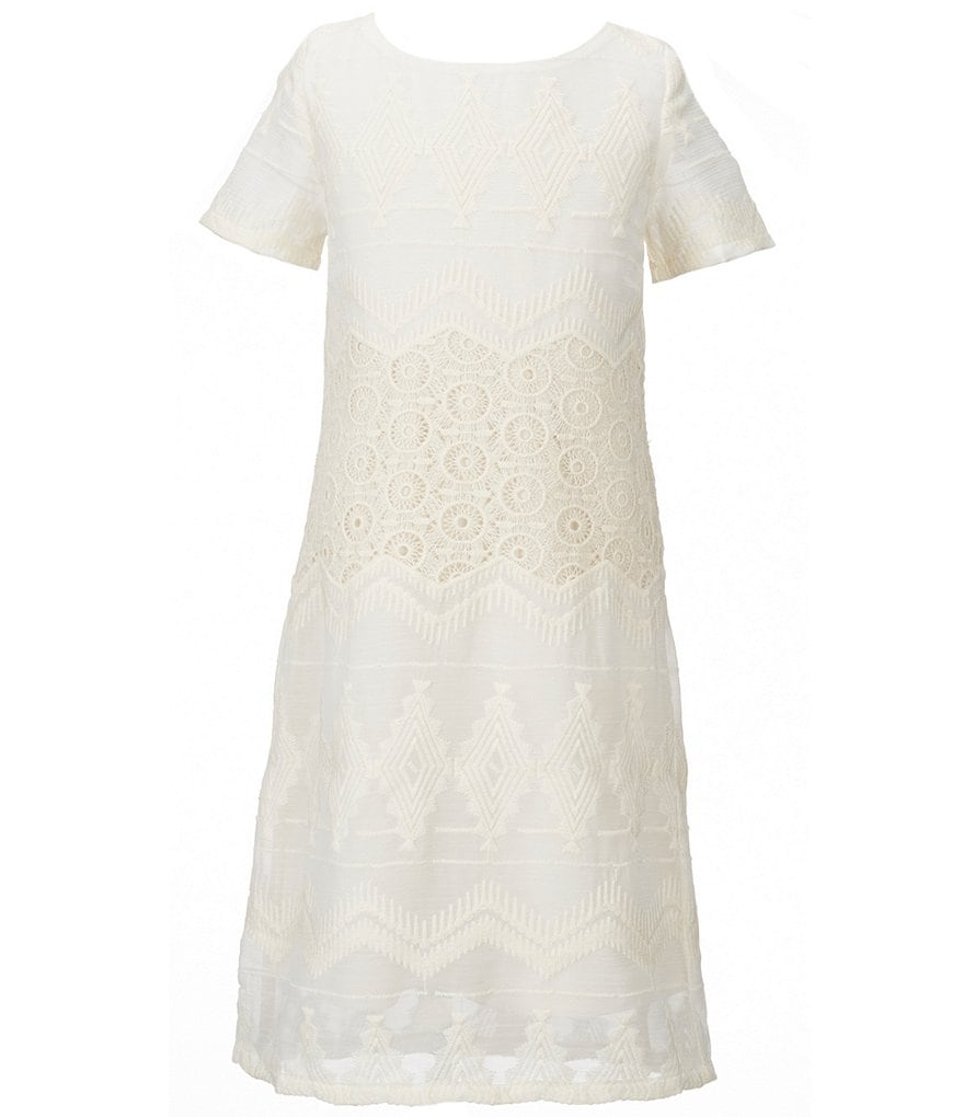 GB Girls Big Girls 7-16 Embroidered Shift Dress