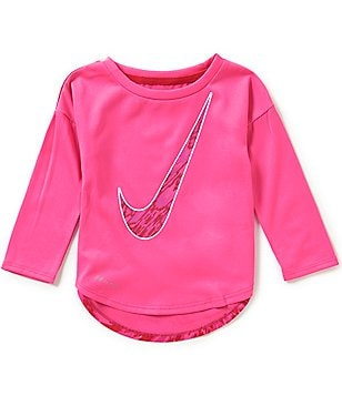 Nike Baby Girls 12-24 Months Dri-FIT Modern Long-Sleeve High-Low Tee