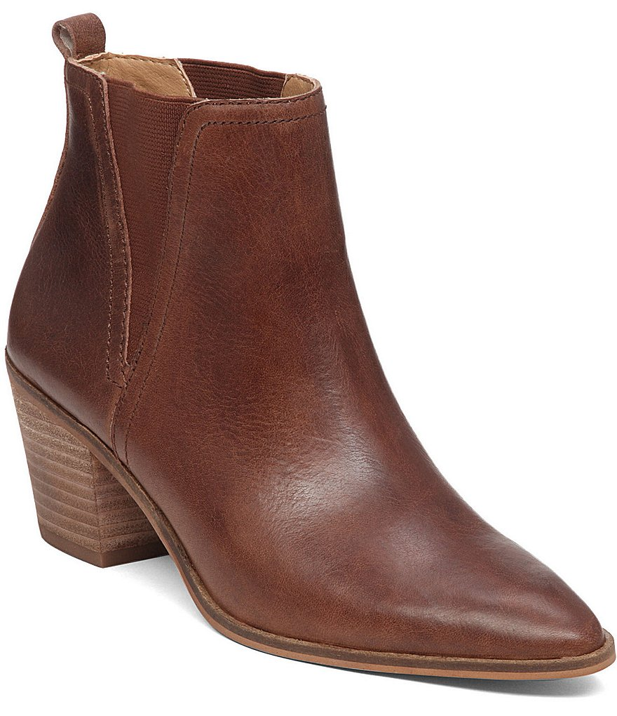 Lucky Brand Lorry Leather Pointed Toe Booties