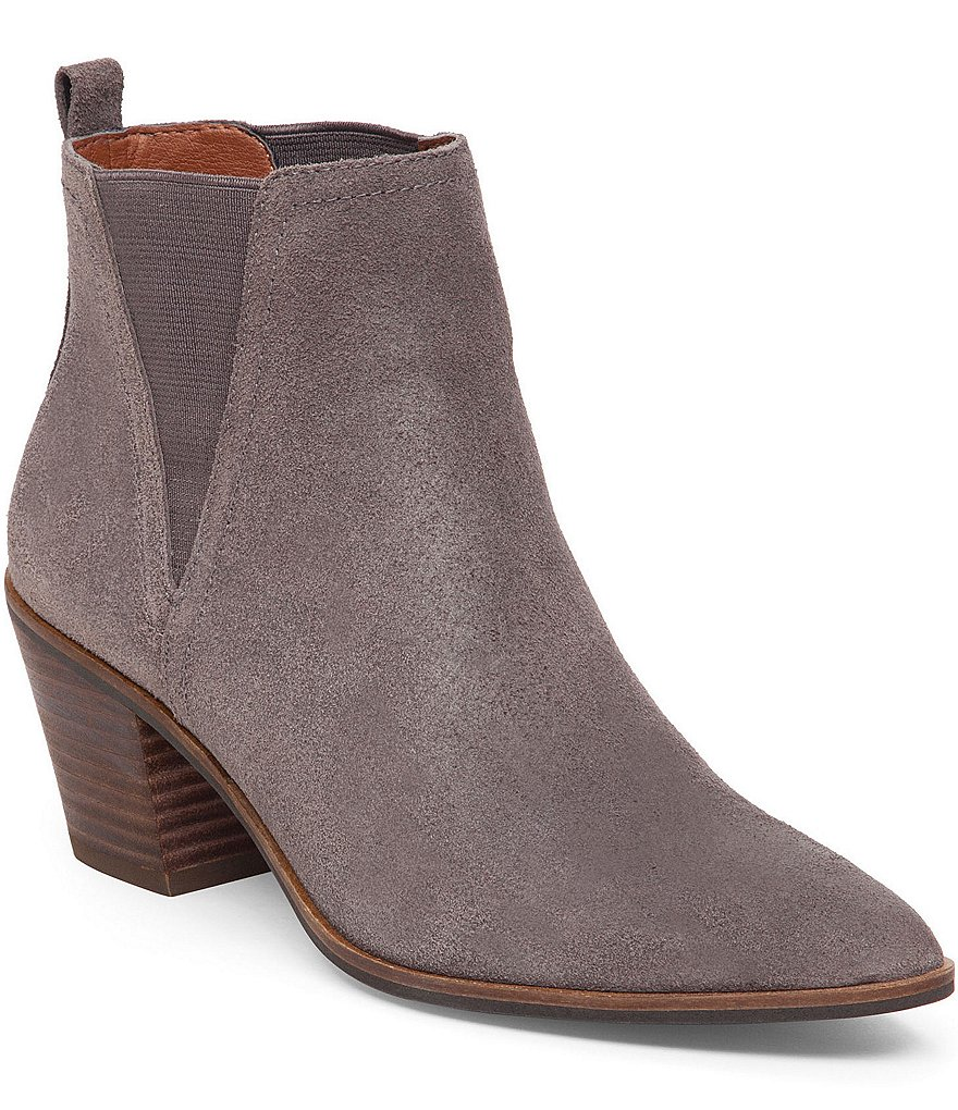 Lucky Brand Lorr Suede Pointed Toe Booties